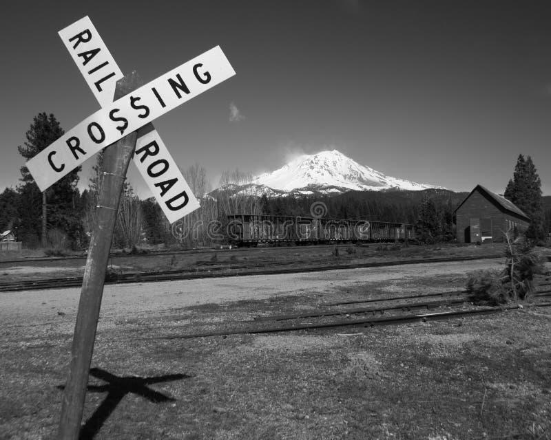 Скрещивание железной дороги стоковое изображение rf