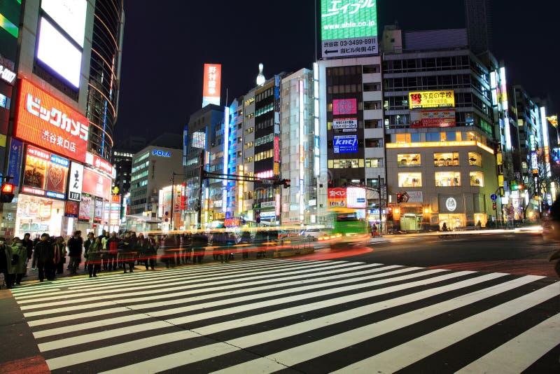 Скрещивание станции Shibuya, Токио стоковое фото rf