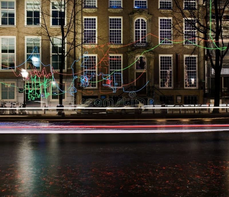 Скрещивание фестиваля 2016-Path света Амстердама стоковые изображения rf