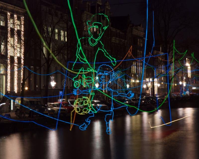Скрещивание фестиваля 2016-Path света Амстердама стоковые изображения