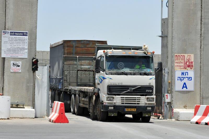 Скрещивание Kerem Shalom стоковое фото