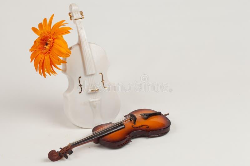 Скрипка вазы и оригинал скрипки стоковое изображение rf