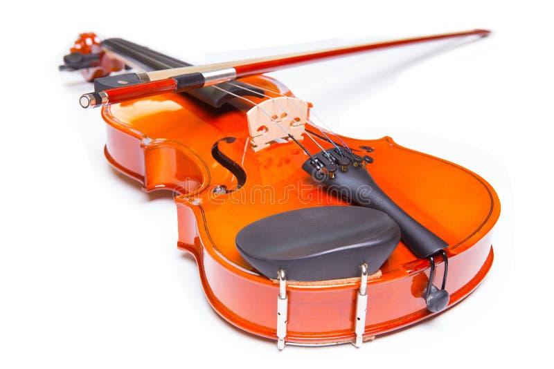 Скрипка и смычок стоковая фотография