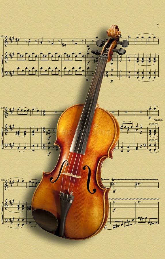 скрипка листа нот стоковая фотография rf