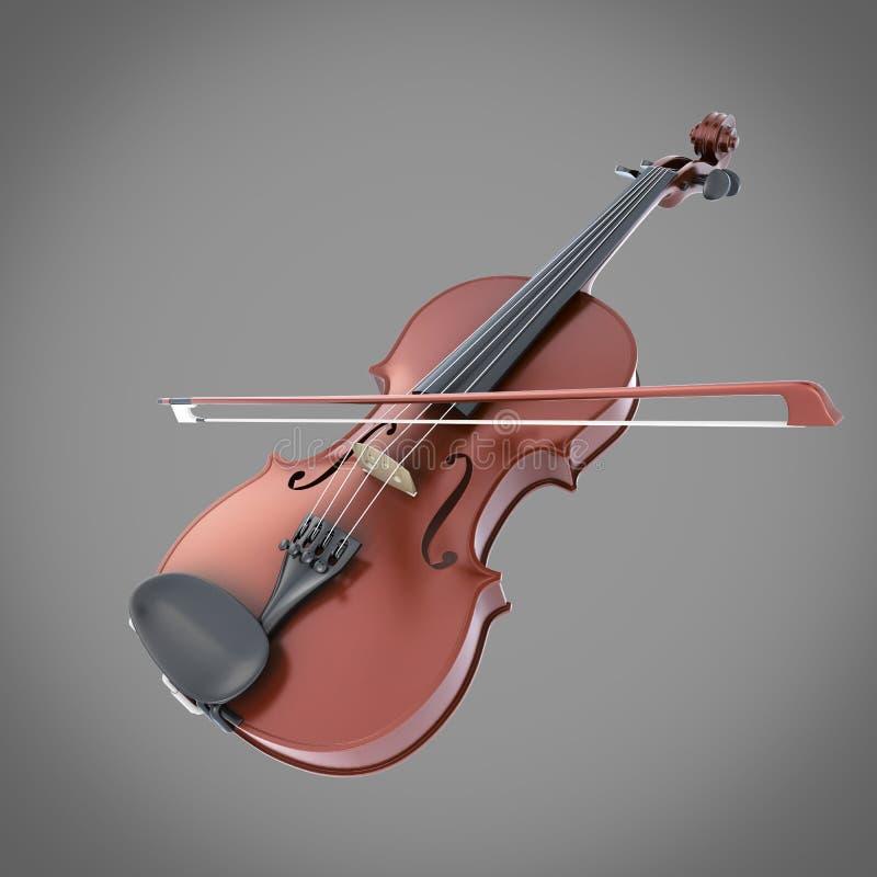 Скрипка на сером цвете бесплатная иллюстрация