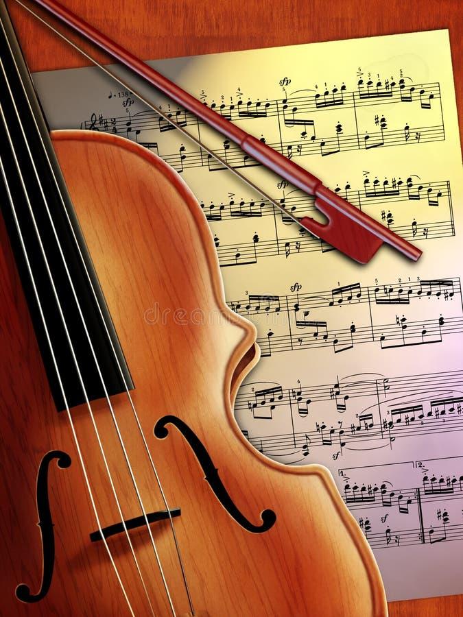скрипка нот иллюстрация вектора