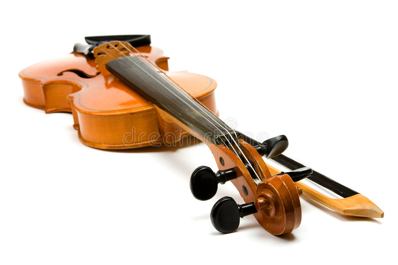 скрипка смычка стоковая фотография