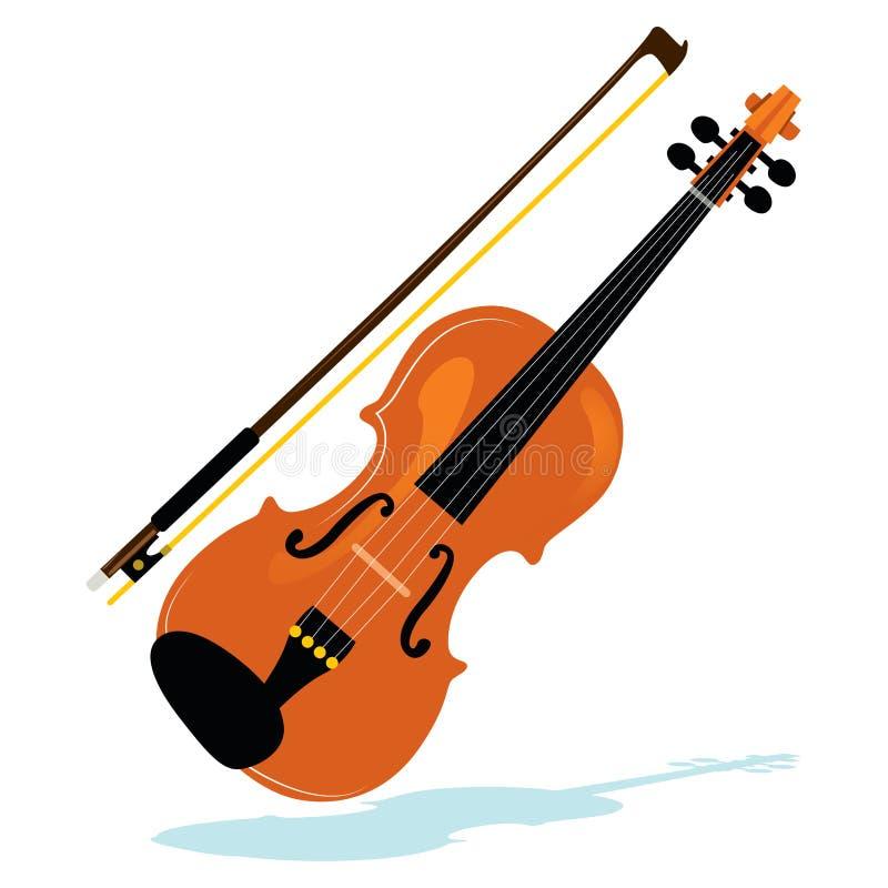 Скрипка с смычком бесплатная иллюстрация