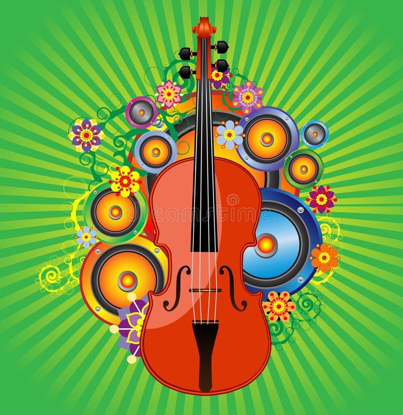 скрипка цветка иллюстрация вектора