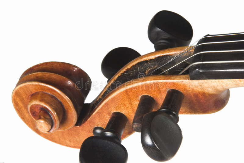скрипка Headstock Стоковая Фотография