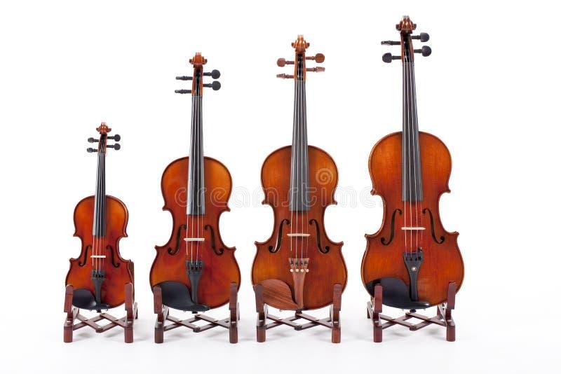 скрипки семьи стоковое изображение rf