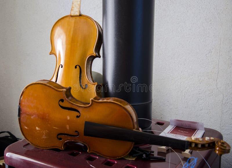 скрипки стоковое фото
