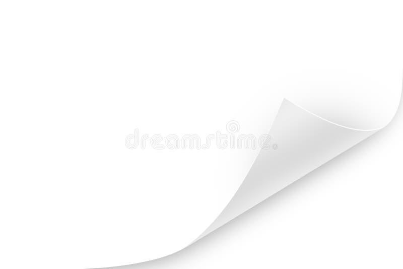 Скручиваемость страницы стоковое фото rf