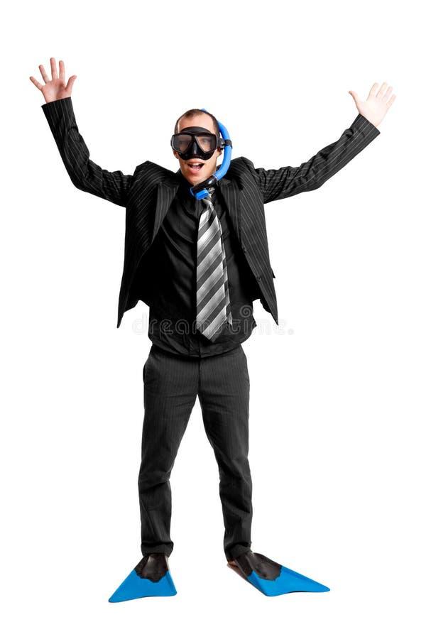 скуба маски бизнесмена стоковое изображение
