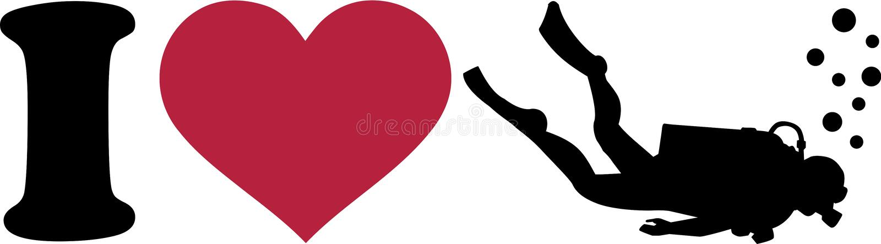 Скуба сердца i иллюстрация штока