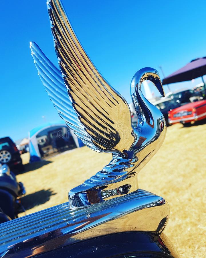 Скульптура автомобиля лебедя стоковая фотография