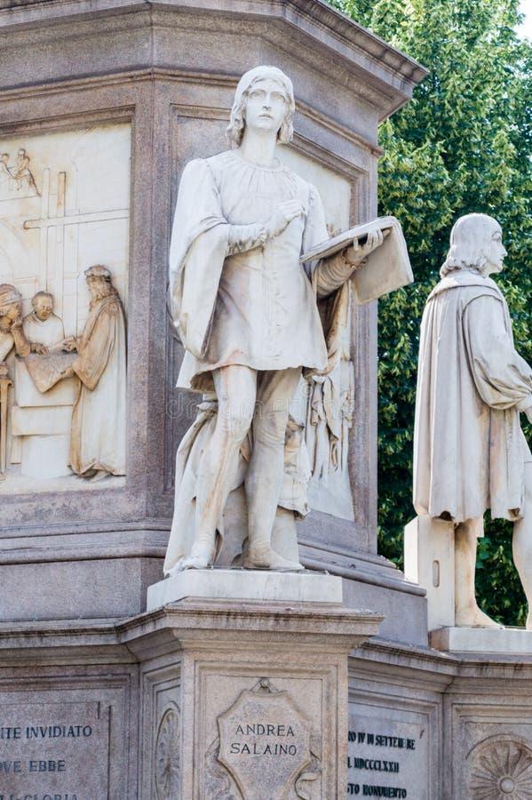 Скульптура Андреа Salaino на Леоне стоковые изображения