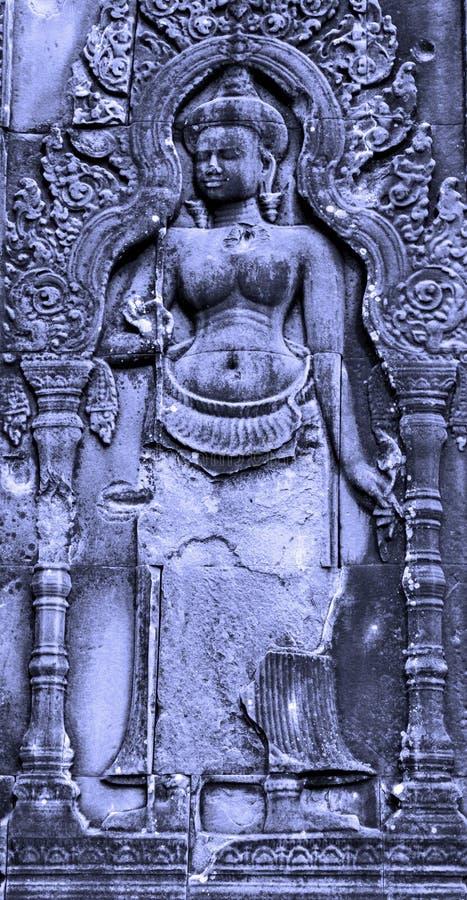 Скульптура Камбоджа камня APSARA стоковое фото