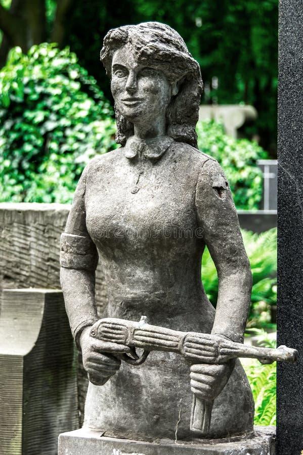 Скульптура кладбища стоковые фото