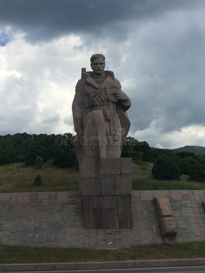 Скульптура кормового матроса стоковые изображения