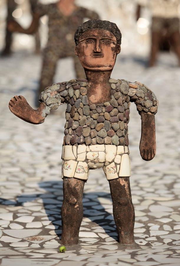скульптура мальчика стоковая фотография rf