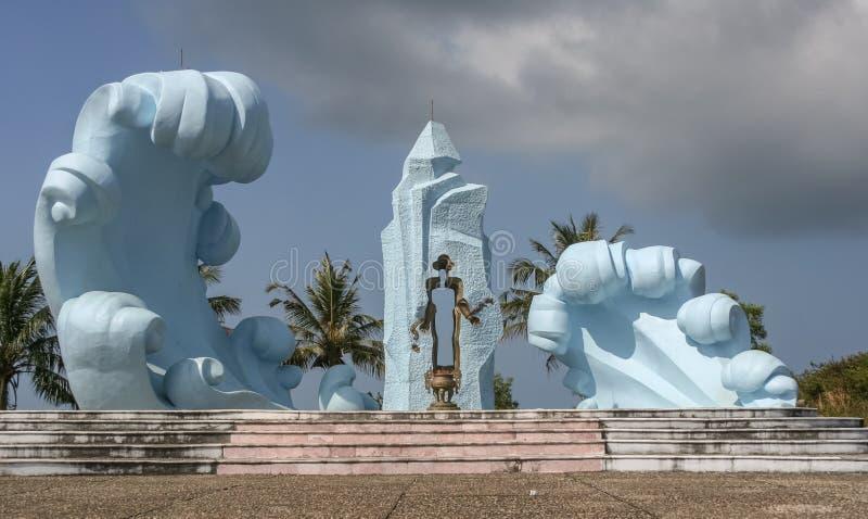 Скульптура на морской флоре и фауне на острове Phu Qhoc стоковая фотография