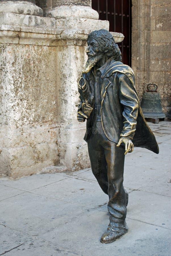 скульптура публики havana француза Кубы стоковые фотографии rf