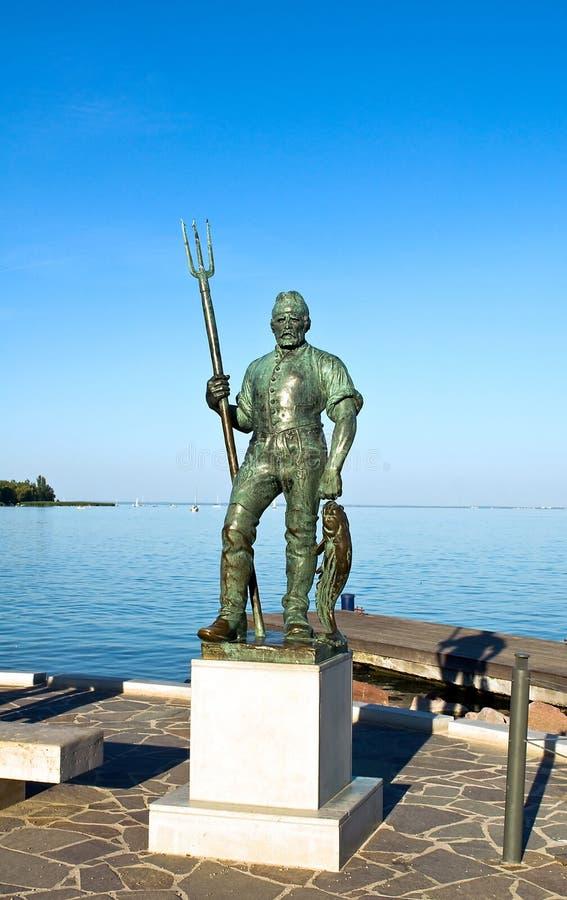 скульптура рыболова s стоковое фото