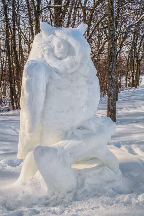 Скульптура снега в Ste-Розе Laval стоковое изображение