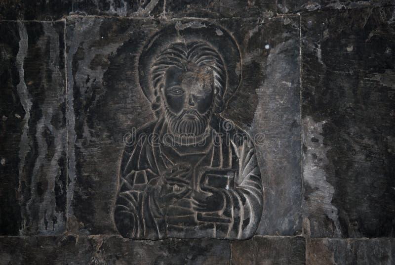 Скульптура Historycal в часовне Surb Grigor комплекса Noravank в Армении стоковое изображение rf