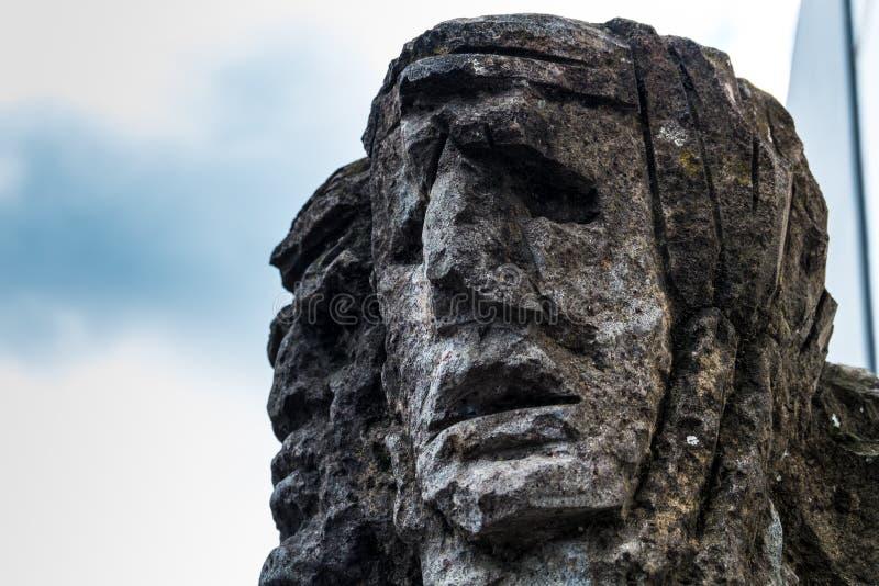 01-18-2018 - скульптура mamuthones, традиционная маска в масленице Mamoiada, Нуоро, Сардиния, Италия стоковое фото