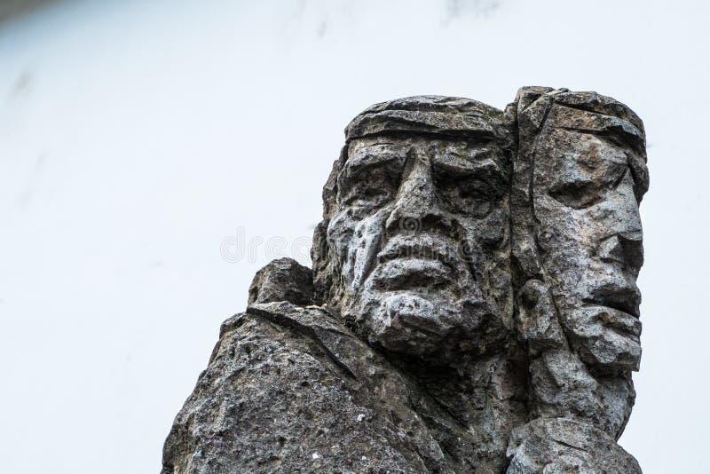 01-18-2018 - скульптура mamuthones, традиционная маска в масленице Mamoiada, Нуоро, Сардиния, Италия стоковое изображение rf