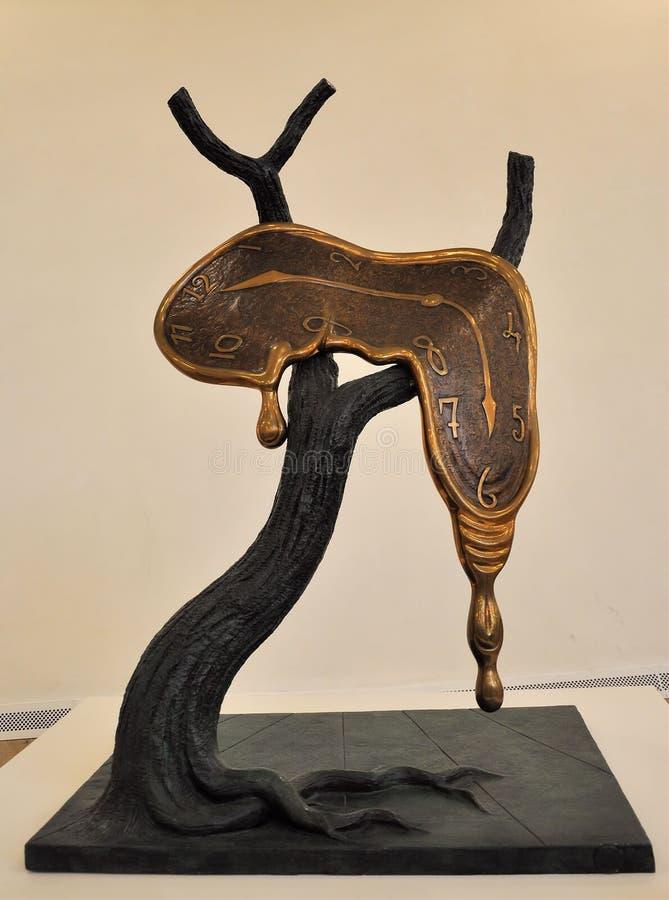 скульптура salvador dali стоковое фото