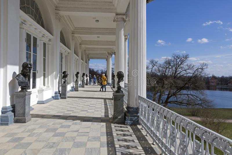 Скульптурное собрание галереи Камерона дворца Катрина в Pushkin стоковое изображение rf
