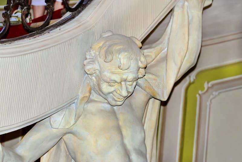 Скульптуры в дворце Branicki библиографий стоковое фото rf