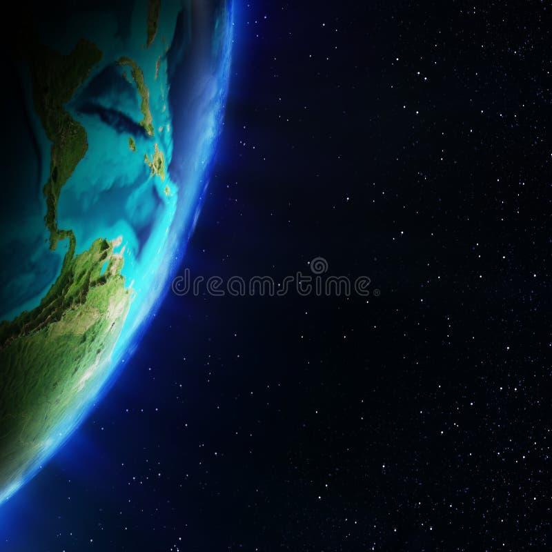 скульптура америки центральная составляет карту NASA иллюстрация вектора