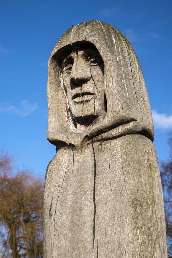 Скульптура в аббатстве Waltham стоковое фото