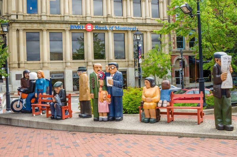Скульптура в городском St. John стоковые изображения rf