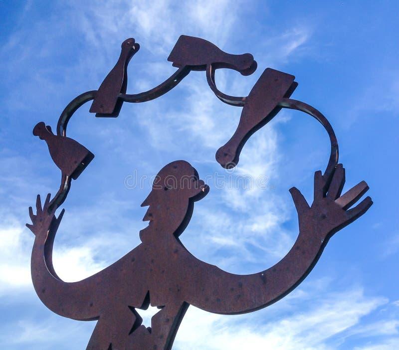Скульптура в заржаветом утюге стоковая фотография rf