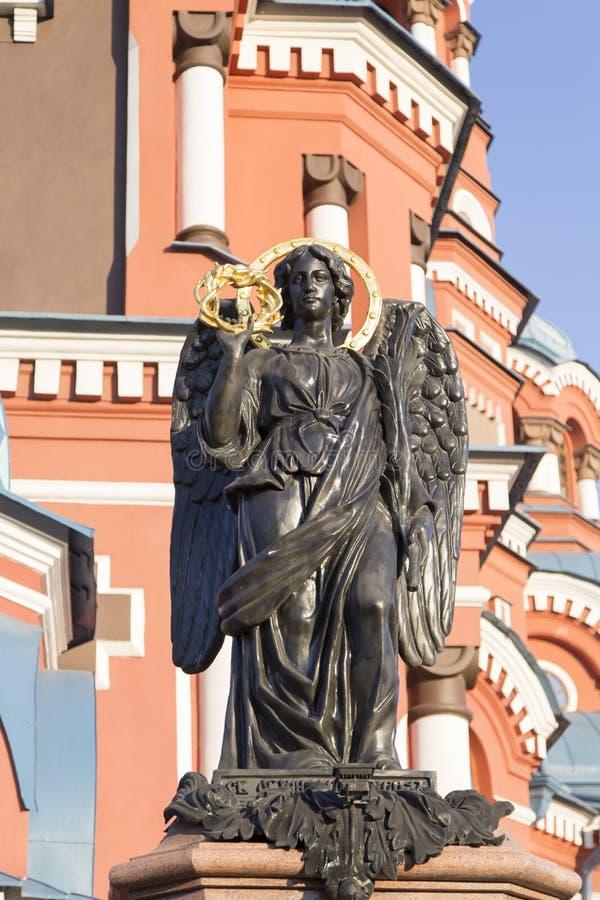 Скульптура в церков, Российская Федерация стоковая фотография rf