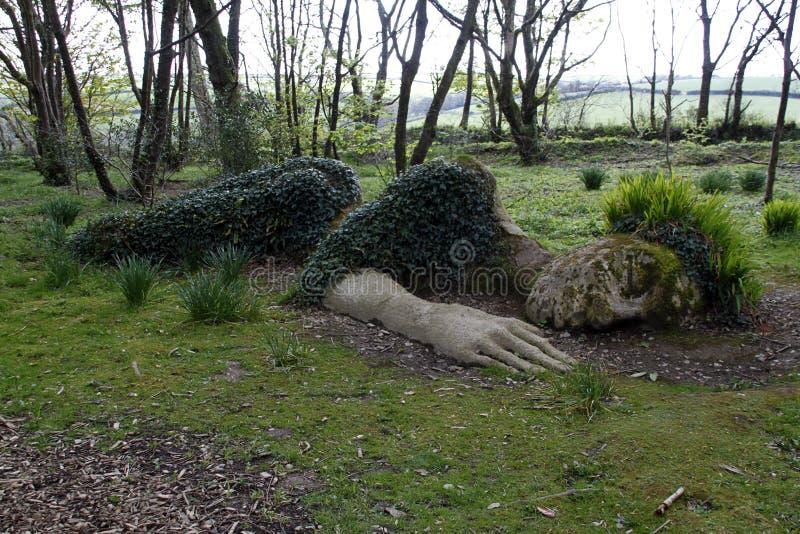 Скульптура горничной грязи стоковые изображения rf