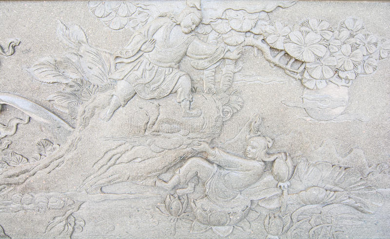 Скульптура искусства от стены стоковая фотография