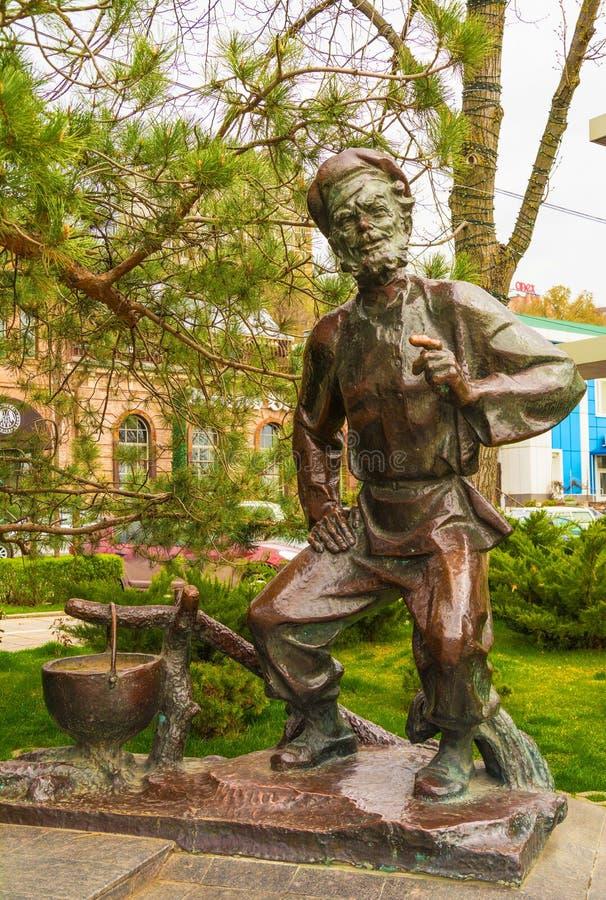 Скульптура на обваловке Rostov On Don стоковое фото rf