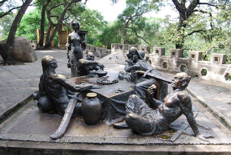 Скульптура о mooncake играя в азартные игры на острове gulangyu стоковые изображения rf