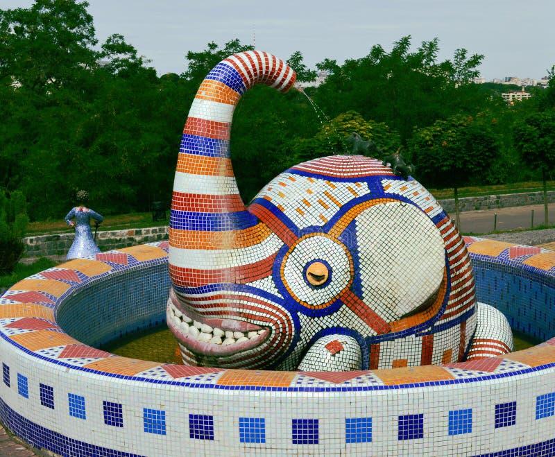 Скульптура слона стоковая фотография