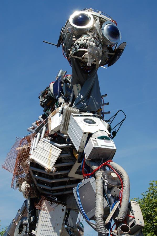 Скульптура человека Weee электрическая ненужная стоковое изображение
