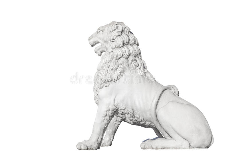 Скульптура льва на мосте льва в Санкт-Петербурге, Isolat стоковая фотография rf