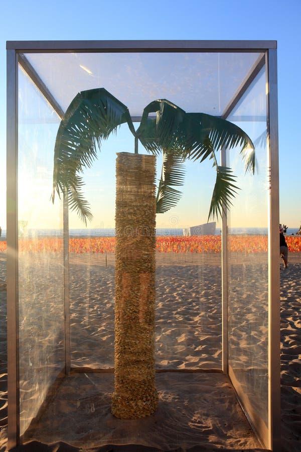 Скульптура экспонатом моря на Bondi Австралии стоковая фотография