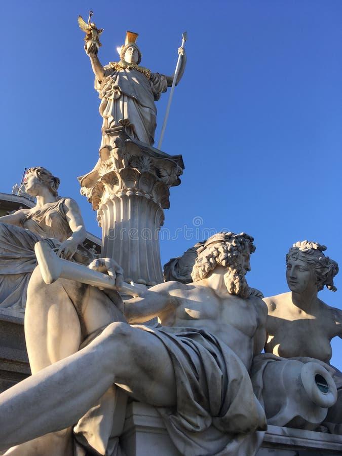 скульптура athene pallas стоковое фото