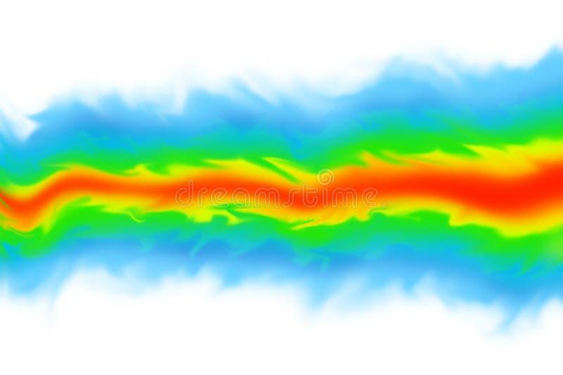 Скульптура CGI динамики жидкостей и газов/имитации механиков на белой предпосылке иллюстрация штока